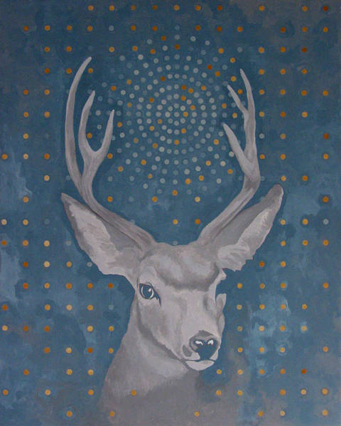 Antlers Painting - Motorlegs by Sandra Cohen