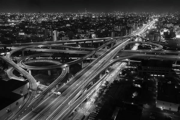 Traffic Wall Art - Photograph - Motorway by Koji Sugimoto