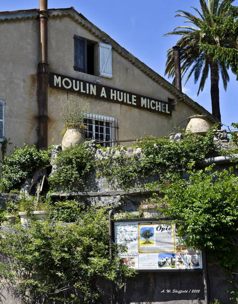 Chateauneuf Photograph - Moulin A Huile Michel by Allen Sheffield