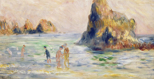 Wall Art - Painting - Moulin Huet Bay Guernsey by Pierre Auguste Renoir