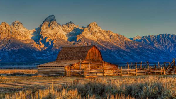 Photograph - Moulton Barn Mormon Row Grand Tetons by Brenda Jacobs