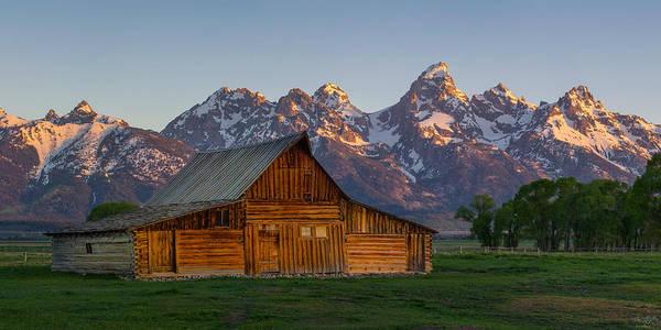 Photograph - Moulton Barn Sunrise by Aaron Spong