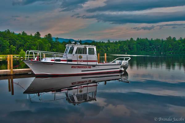 Photograph - Moultonborough Fire Boat by Brenda Jacobs