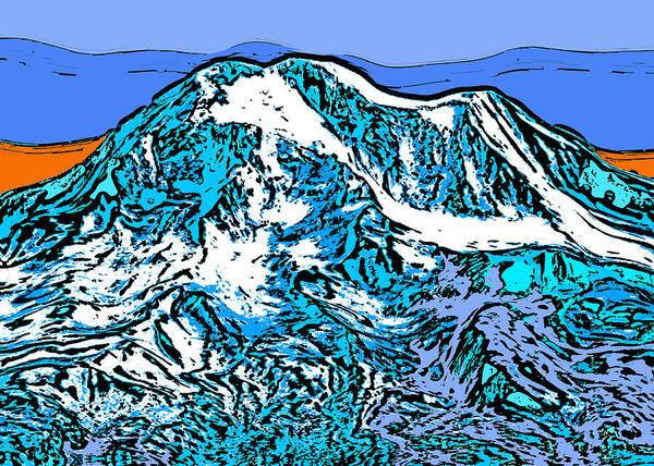 Wall Art - Digital Art - Mount Adams - Washington by David G Paul