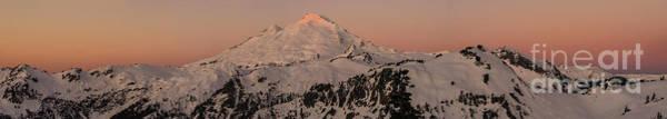 Alpenglow Photograph - Mount Baker Majestic by Mike Reid