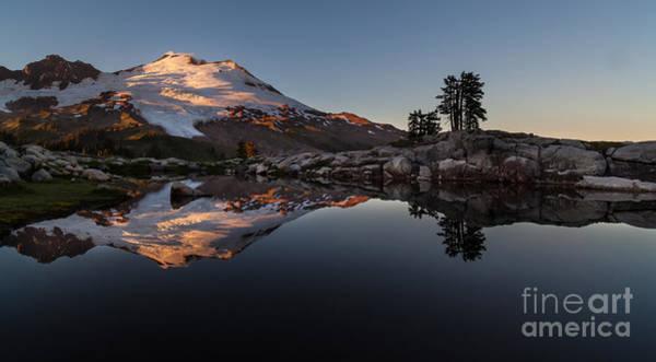 Baker Photograph - Mount Baker Sunset Glow by Mike Reid