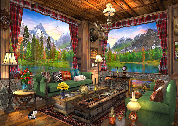 Wall Art - Painting - Mount Cabin View by MGL Meiklejohn Graphics Licensing