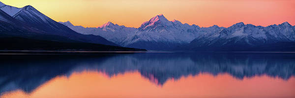 Mounted Photograph - Mount Cook, New Zealand by Artistname