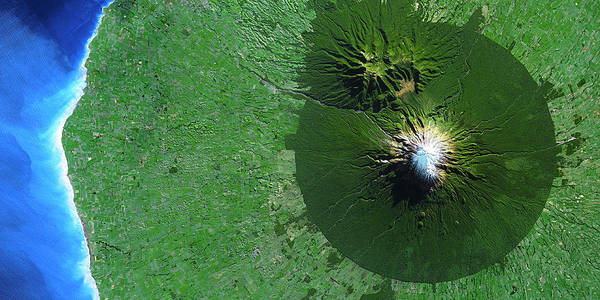 Wall Art - Photograph - Mount Egmont by Cnes, 2004-2011 Distribution Spot Image/science Photo Library