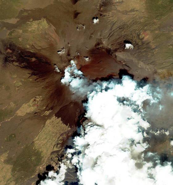 Mount Etna Erupting Art Print