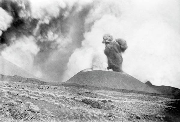 Plume Photograph - Mount Etna Eruption by Library Of Congress