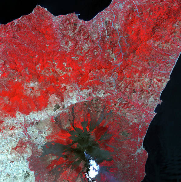Ir Photograph - Mount Etna by Nasa/science Photo Library