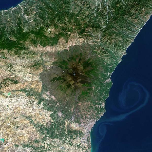 Active Volcano Photograph - Mount Etna by Planetobserver/science Photo Library