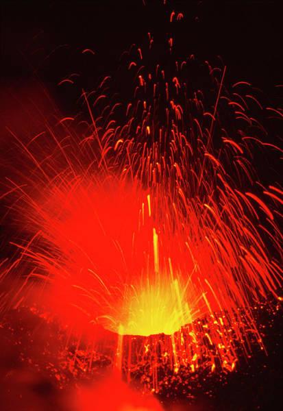 Mount Etna Volcano Erupting Art Print