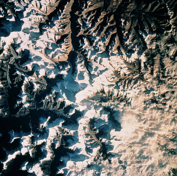 Wall Art - Photograph - Mount Everest Seen From Space by Nasa/science Photo Library
