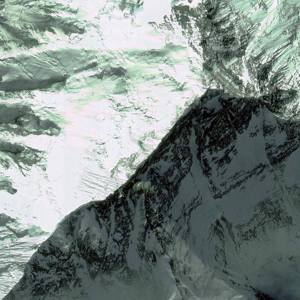 Wall Art - Photograph - Mount Everest Summit by Geoeye/science Photo Library