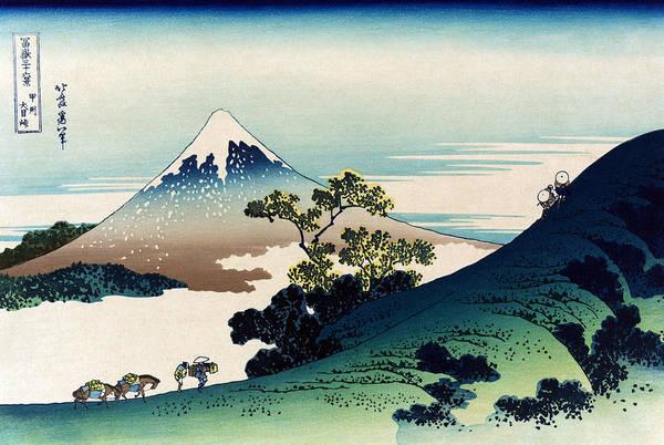 Thirty-six Views Of Mount Fuji Wall Art - Photograph - Mount Fuji, Inume Pass, Koshu, 1830s by Science Source