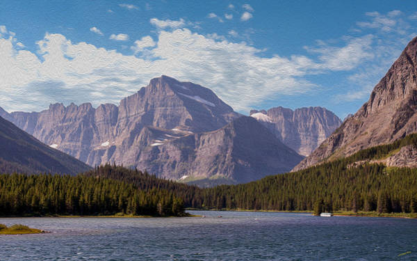 Photograph - Mount Gould At Glacier National Park by John M Bailey