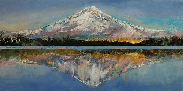 Oil Pastel Painting - Mount Hood by Michael Creese