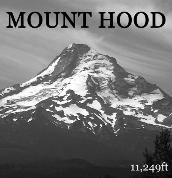 Wall Art - Photograph - Mount Hood Number One Vertical by David Lee Thompson