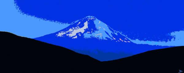 Wall Art - Painting - Mount Hood Panoramic by David Lee Thompson