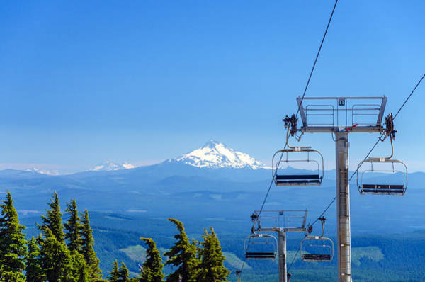 Timberline Photograph - Mount Jefferson And Chairlifts by Jess Kraft