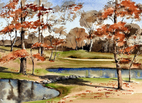 Painting - Mount Juliet Golf Course  Kilkenny by Val Byrne