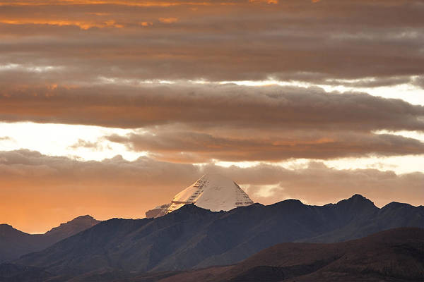 Photograph - Mount Kailash And Evening Clouds, Hor, 2007 by Hitendra SINKAR