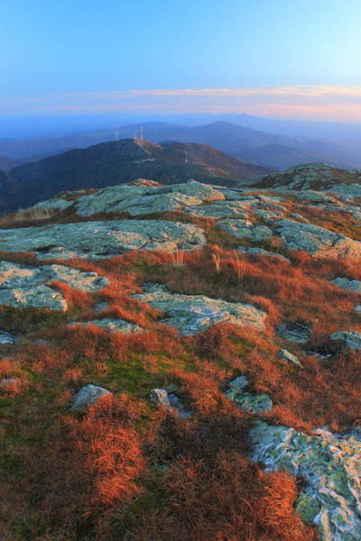 Smugglers Notch Photograph - Mount Mansfield Alpine Zone In Autumn by John Burk