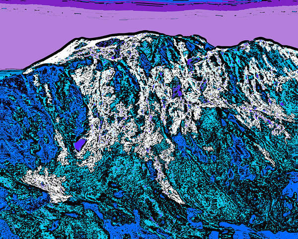 Mounted Digital Art - Mount Massive - Colorado by David G Paul