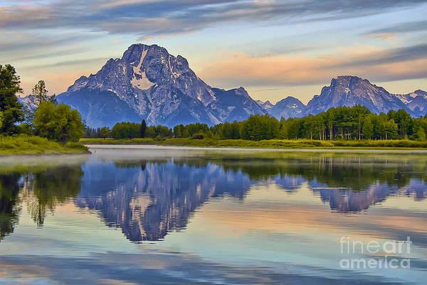 Mount Moran Photograph - Mount Moran At Sunrise by Teresa Zieba