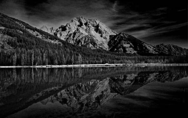 Photograph - Mount Moran In Black And White by Raymond Salani III
