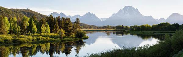 Snake Photograph - Mount Moran, Snake River Grand Teton by Peter Adams