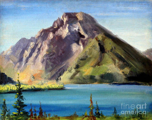 Painting - Mount Moran - Wyoming 1939 by Art By Tolpo Collection