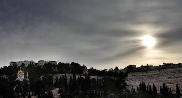 Photograph - Mount Of Olives At Sunset Jerusalem Israel by Mark Fuller