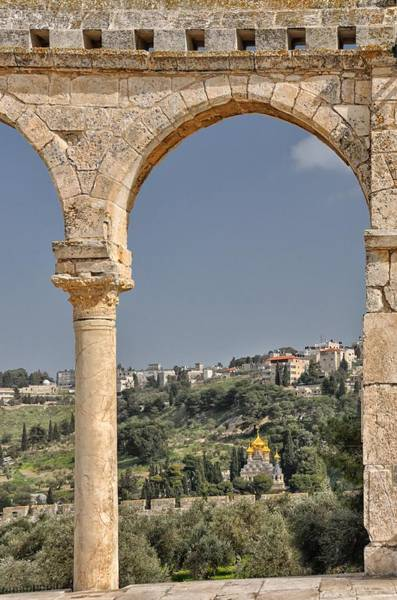 Photograph - Mount Of Olives From Termple Mount Jerusalem Israel by Mark Fuller