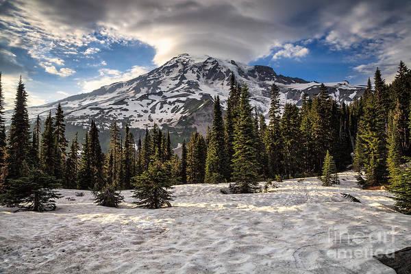 Photograph - Mount Rainier And Cloud by Stuart Gordon