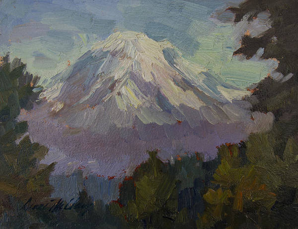 Mount Rainier Painting - Mount Rainier From Vashon Island by Diane McClary