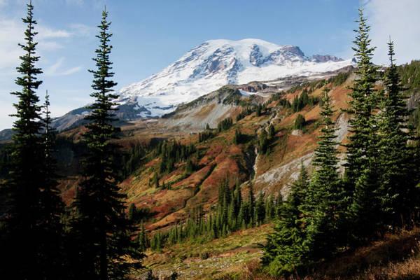 Archer Photograph - Mount Rainier National Park, Autumn by Ken Archer