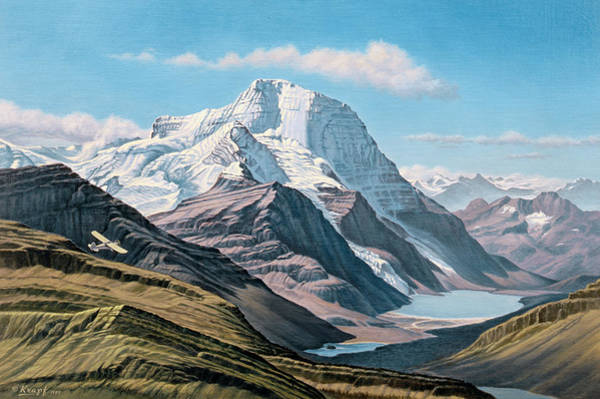Wall Art - Painting - Mount Robson From The Air    by Paul Krapf