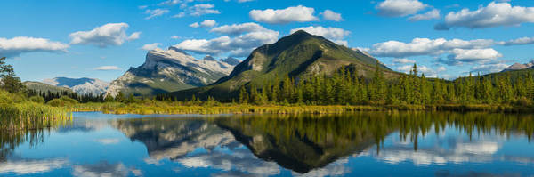 Vermillion Lakes Wall Art - Photograph - Mount Rundle And Sulphur Mountain by Panoramic Images