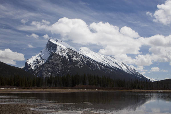 Photograph - Mount Rundle And Vermilion Lake by Tony Mills