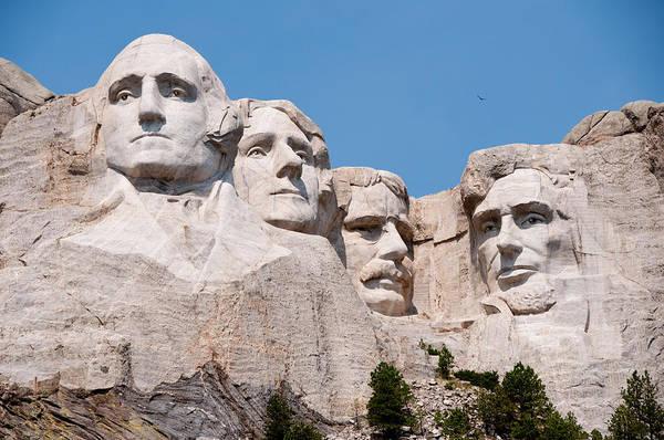 Mounted Digital Art - Mount Rushmore by Georgia Fowler
