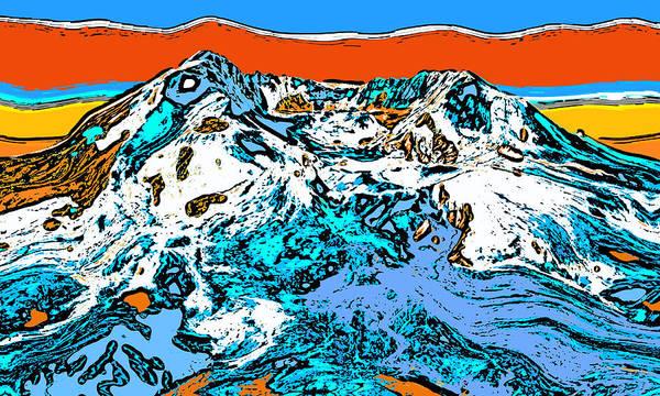 Mounted Digital Art - Mount Saint Helens - Washington by David G Paul