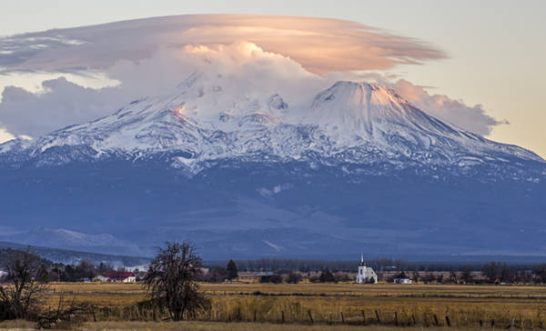 Photograph - Mount Shasta And Little Shasta Church by Loree Johnson