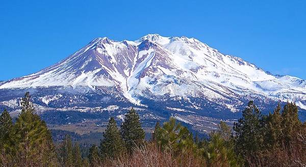 Photograph - Mount Shasta California February 2013 by Michael Rogers