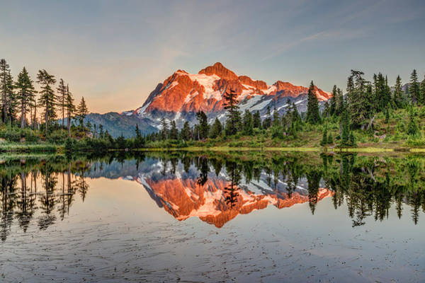Photograph - Mount Shuksan Picture Lake by Pierre Leclerc Photography