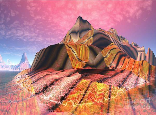 Mounted Digital Art - Mount Sizzling Bacon Strips 02 by Heinz G Mielke