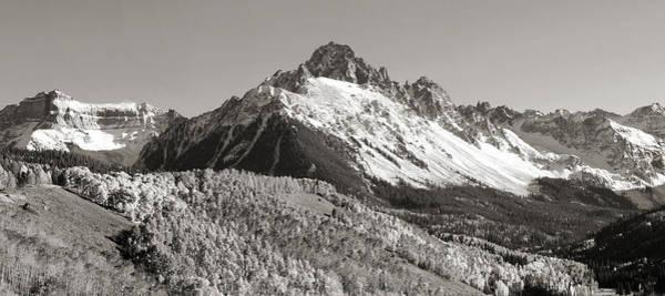 Mounted Digital Art - Mount Sneffels In Colorado by Brett Pfister