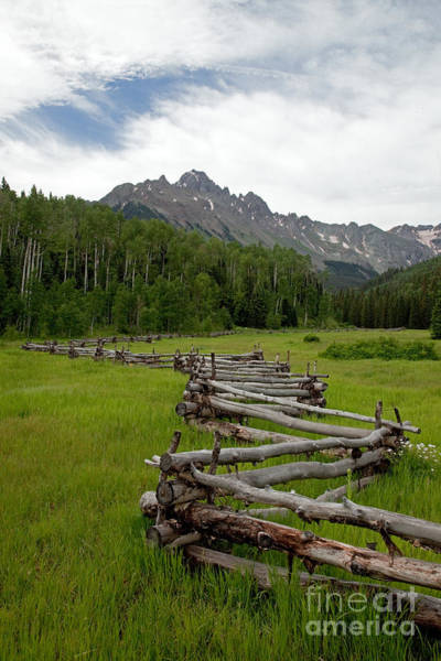 Photograph - Mount Sneffels Range And Snake Or Zig-zag Fence From East Dallas Creek by Fred Stearns